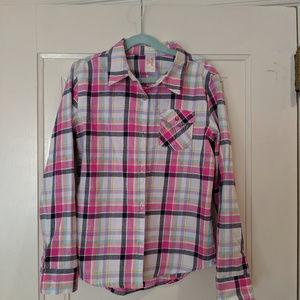 NWOT! Girl's Cat & Jack Button Down Shirt 10/12